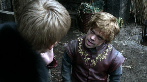 House Lannister wolpeyper possibly containing a malts entitled Tyrion and Joffrey