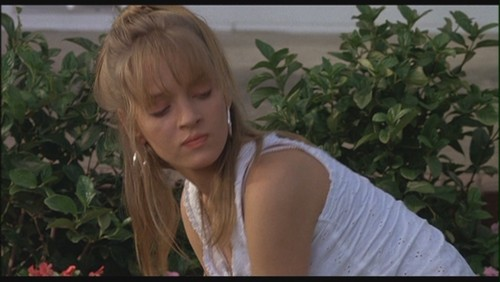 Uma Thurman as Georgia Elkans in 'Johnny Be Good' - uma-thurman Screencap