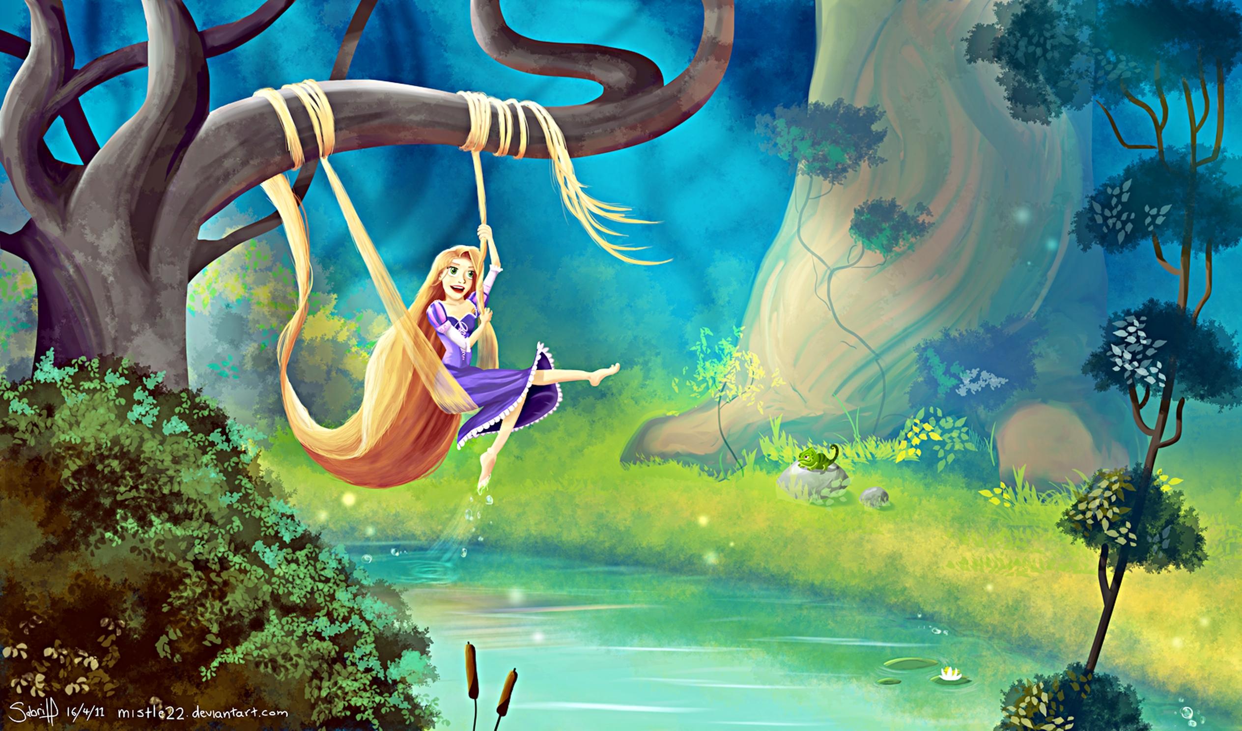 Walt Disney fan Art - Princess Rapunzel & Pascal