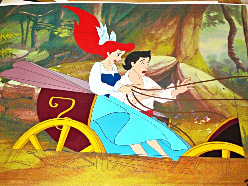 Walt Disney Production Cels - Princess Ariel & Prince Eric