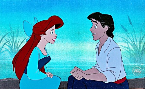 Walt Disney Production Cels - Princess Ariel & Prince Eric