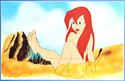 Walt ডিজনি Production Cels - Princess Ariel