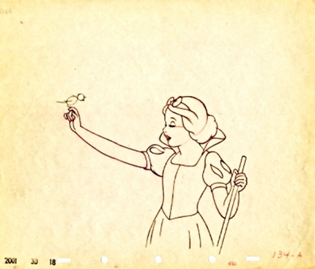 Walt 迪士尼 Sketches - Princess Snow White