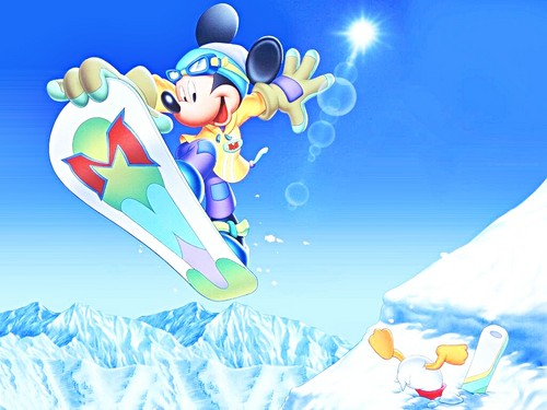 Walt Disney karatasi za kupamba ukuta - Mickey panya, kipanya & Donald bata