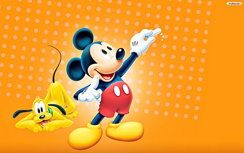 Walt Disney Wallpapers - Pluto & Mickey Mouse