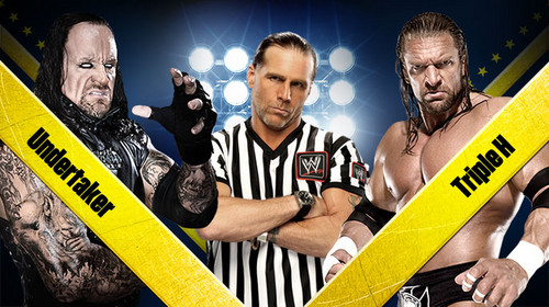 Wrestlemania 28:Undertaker vs Triple H-Referee Shawn Michaels