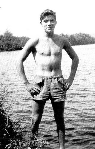 William Shatner wallpaper containing swimming trunks called Young William Shatner 1
