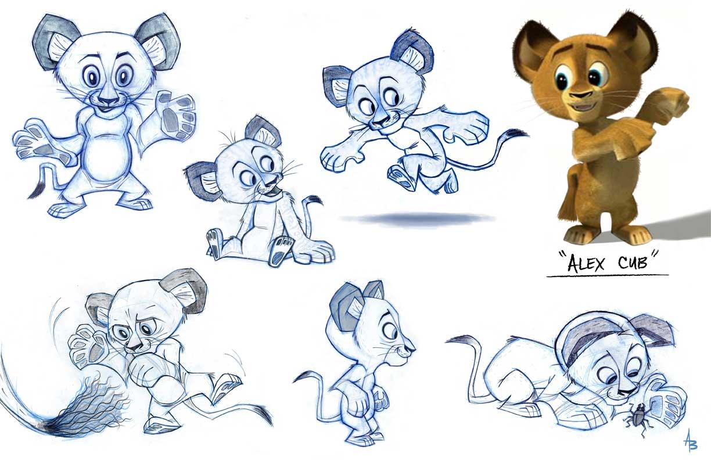 Alex the Lion images alex cub concept art HD wallpaper and ...