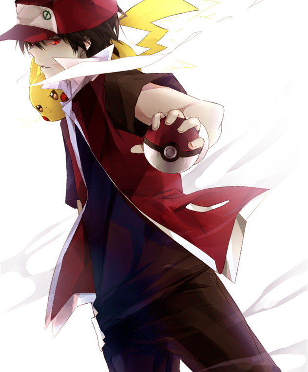 Red and his Pikachu!