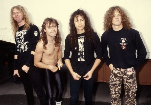 Metallica wallpaper probably with a well dressed person, long trousers, and a leisure wear entitled metallica