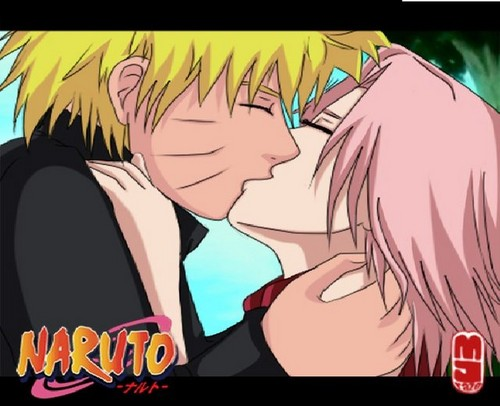 Naruto Couples wallpaper with anime entitled naruto and sakura kiss