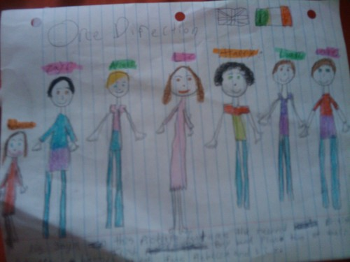pics my little sisters made of 1D (: