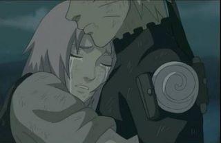sakura hugging Naruto