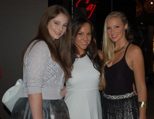xenia, dena & alicia at the DA2 premiere