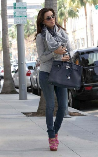 Eva Longoria out on her birthday morning today at Brighton Coffee 샵 in Beverly Hills