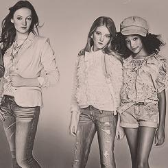 Hunger Games girls for Seventeen Magazine