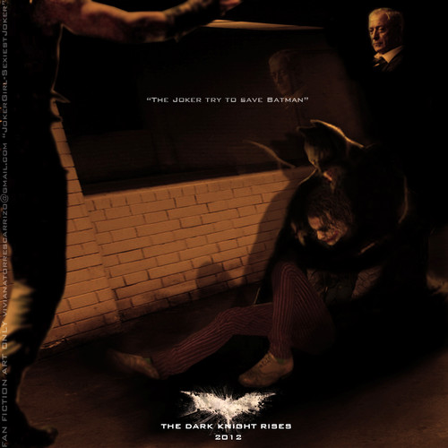 """The Joker try save Batman"" in TDKR the dark knight rises 2012"