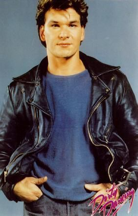 Patrick Swayze wallpaper possibly with a well dressed person, an outerwear, and a bomber jacket entitled :)