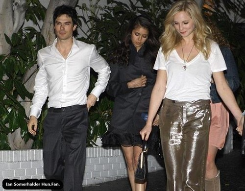 2012.03.10 - Leaving Chateau Marmont in Los Angeles, CA - ian-somerhalder-and-nina-dobrev Photo