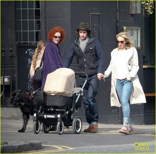 Aaron Johnson & Sam Taylor-Wood Step Out With Baby Romy