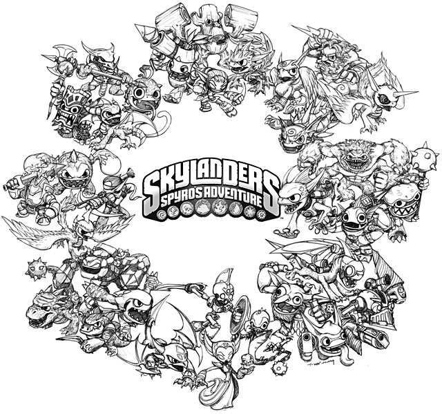Skylanders Trigger Happy Coloring Page - Free Coloring Pages Online | 599x640