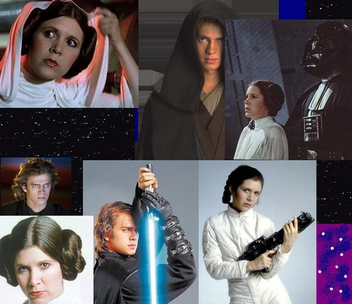 Anakin/Leia, Father-Daughter collage