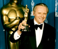Anthony Hopkins with his Oscar for The Silence of the Lambs