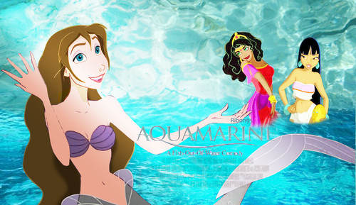 disney crossover wallpaper probably containing a water called Aquamarine