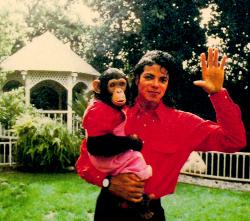 Bubbles Jackson and Michael Jackson