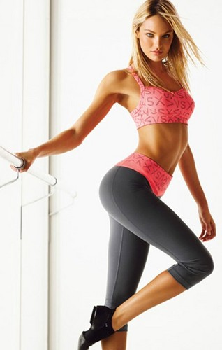 Candice in the new campaign for Victoria's Secret's VSX Sexy Sport