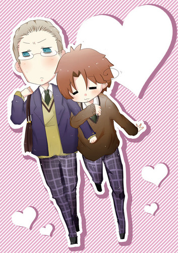 Cute GerIta - yaoi Fan Art