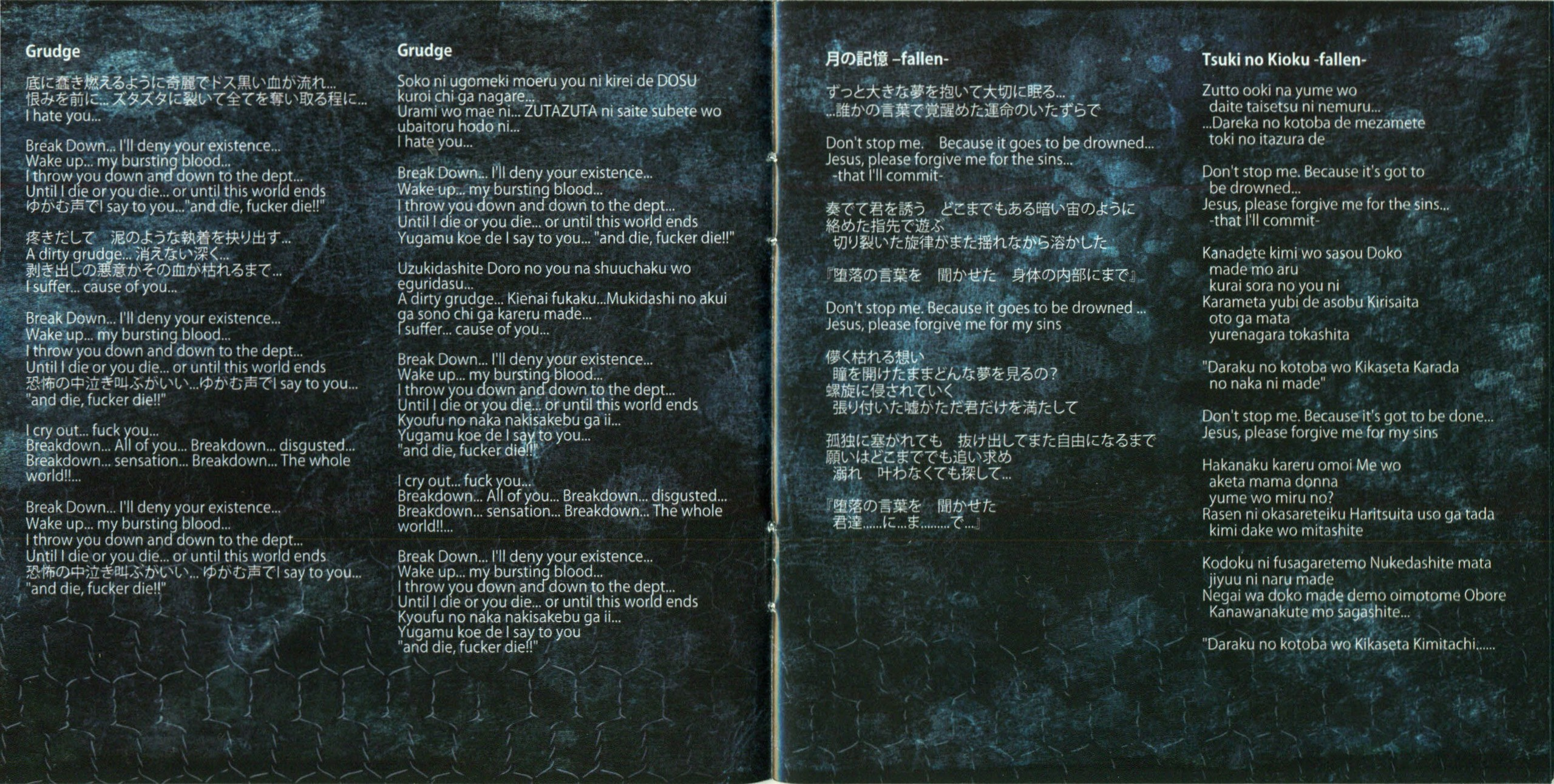 Artist: despairsray song: redeemer 10th anniversery 11009 members:hizumi- vocal tsukasa- drums zero- bass karyu