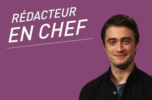 Daniel Radcliffe guest editor at Premiere France's website!!!