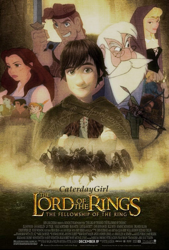 disney crossover wallpaper containing anime entitled Disney LOTR Poster
