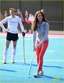 Duchess Kate Plays Field Hockey with Olympic Team - kate-middleton photo