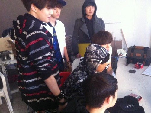 EXO-K BTS History MV shoot - exo-k Photo