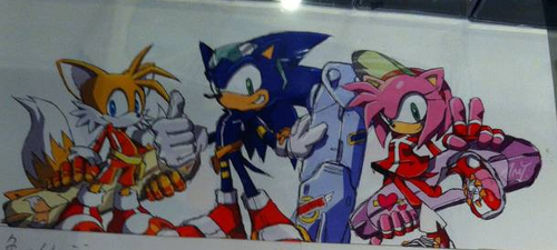 Early consept art of Sonic Riders