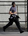 Hugh Jackman runs, plays in a NY park with daughter Ava, - hugh-jackman photo