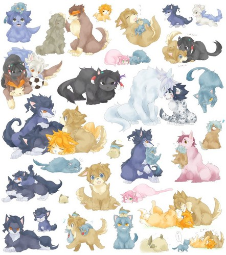 Inazuma eleven Go dogs and hamster