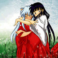 Inuyasha &amp; Kikyo - kikyou fan art