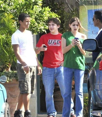 Jaafar Jackson, Prince Jackson and Paris Jackson at the Commons in Calabasas March 11th 2012