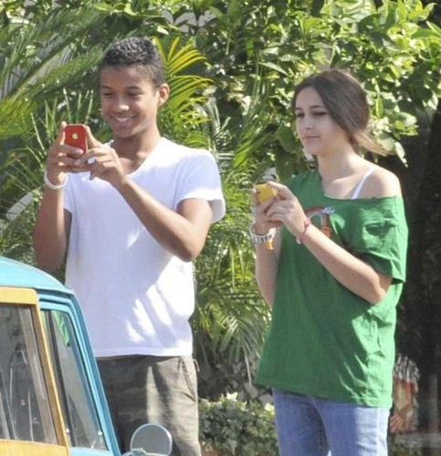Jaafar Jackson and Paris Jackson at the Commons in Calabasas March 11th 2012