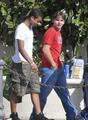 Jaafar Jackson and Prince Jackson at the Commons in Calabasas March 11th 2012