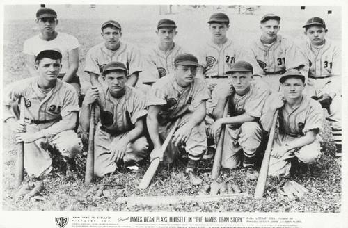 James Dean and his Fairmount Baseball Team