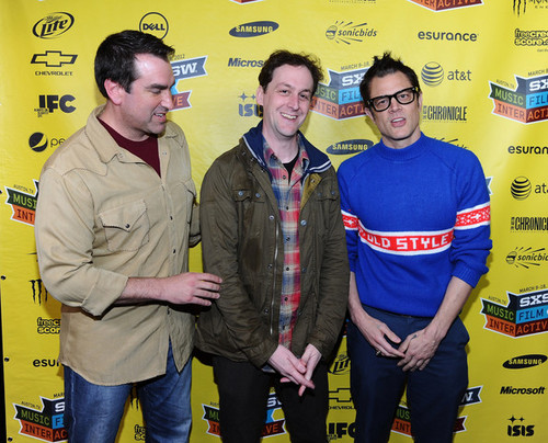 Johnny Knoxville, with Rob Riggle & Todd Rohal @ the SXSW Premiere of 'Nature Calls'