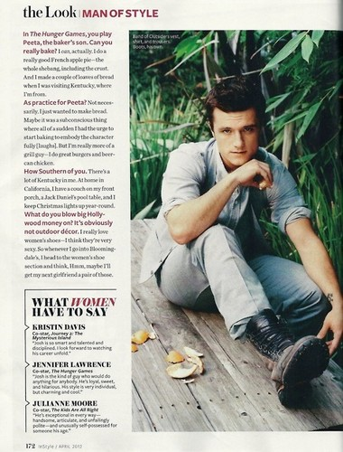 Josh in InStyle Magazine