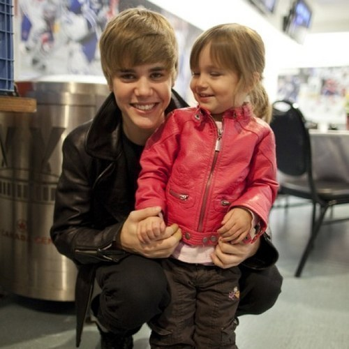 Justin And Jazmyn (his sister)