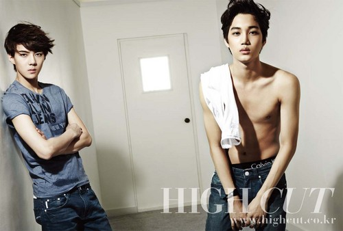 Kai &amp; Se Hun @ HIGH CUT - exo-k Photo