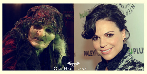 "Once Upon a Time - Es war einmal... Hintergrund containing a portrait titled Lana plays ""The Old Hag"""