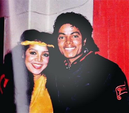Latoya Jackson and her brother Michael Jackson